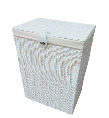 Laundry Basket Medium White Resin Box With lid-Lock By Arpan
