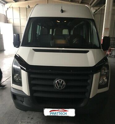 VW CRAFTER 2006-2016 BONNET WIND STONE DEFLECTOR PROTECTOR GUARD - NOT BRA *NEW*