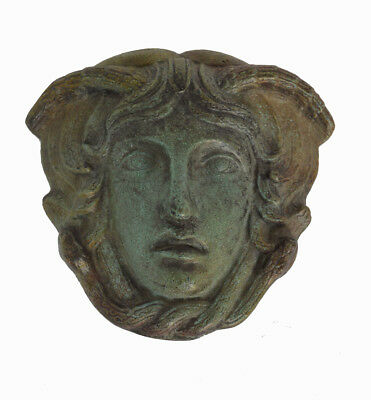 Medusa miniature mask Ancient Greek Snakeheaded Monster artifact sculpture