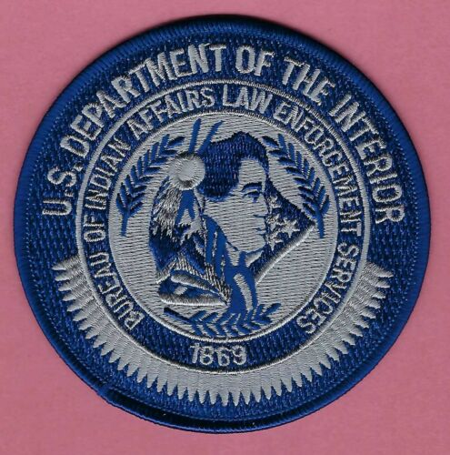 BIA BUREAU OF INDIAN AFFAIRS LAW ENFORCEMENT SERVICES SHOULDER PATCH