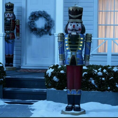 """68 Nutcracker Lifesize 68"""" TALL LED Light SOUND Indoor/Outdoor Christmas My Size"""