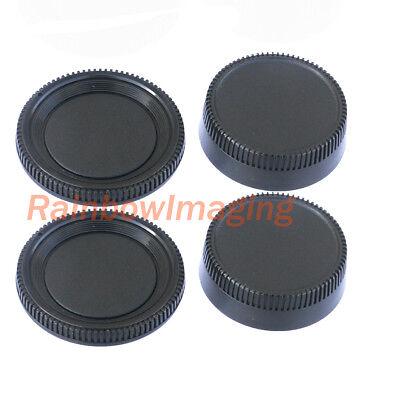 (2 Packs) Rear Lens Cover + Camera Body Cap for Nikon DSLR replaces LF-1 - Nikon Lens Cover