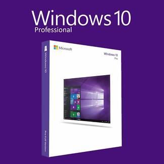 Microsoft Windows 10 Pro Professional Full License - 32 or 64 bit