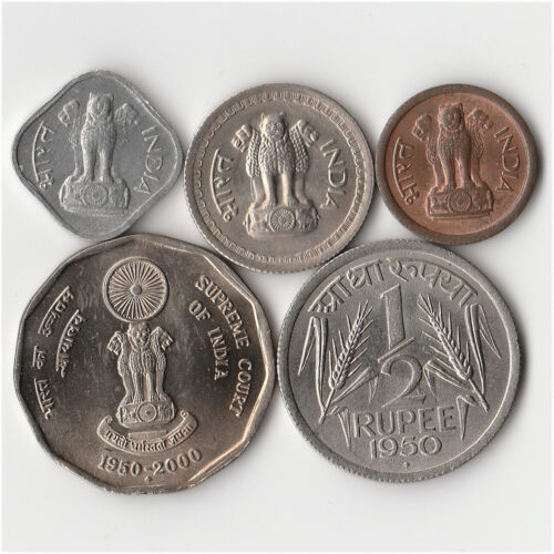 India - Lot of 5 Coins #959