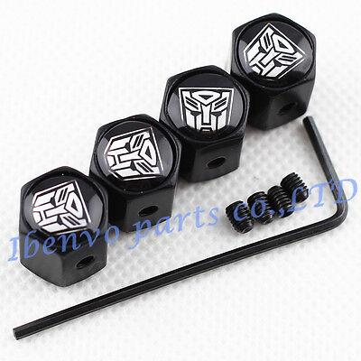 Anti Theft Black Car Wheel Tyre Tire Stem Air Valve Cap For Transformers Autobot