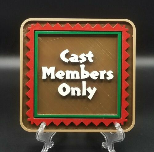 """10"""" Disney Polynesian Resort Themed Cast Members Only Sign / Plaque"""