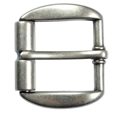 """Heavy Duty Silver Finish Roller Belt Buckle for 1 1/2"""" Belts - NEW"""