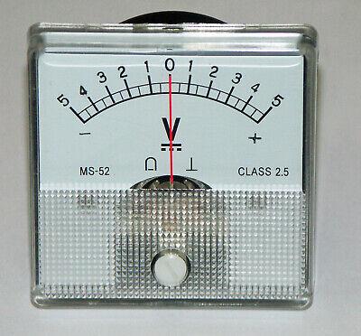 Dc Panel Mount Meter 5-0-5 Volt Dc