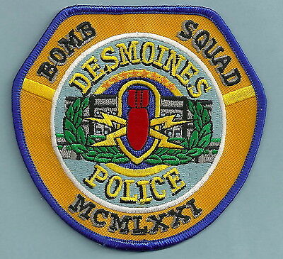 DES MOINES IOWA POLICE BOMB SQUAD PATCH