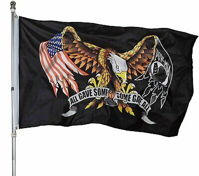 POW MIA Flag ALL GAVE SOME SOME GAVE ALL AMERICAN EAGLE BANNER FLAGS USA 3X5 Décor