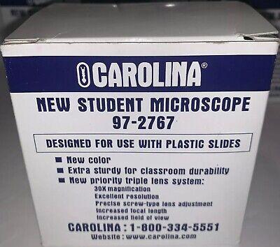 Lot Of 10 Carolina New Student Mini Microscope 30x Magnification Triple Lens.