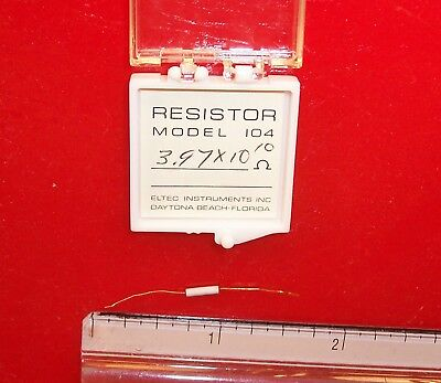 Qty 1 Eltec Model 104 High Megohm Tubular Resistor 3.97x1010