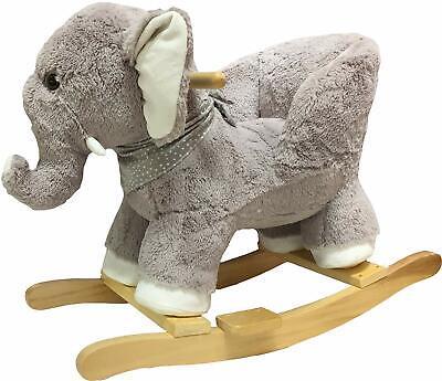 Schaukeltier Schaukelpferd für Kleinkinder Elefant stabil verarbeitet Plüsch Neu
