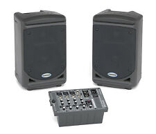 Samson Expedition XP150 150-Watt Portable PA - Class D Amp / 2 Speakers & Mixer