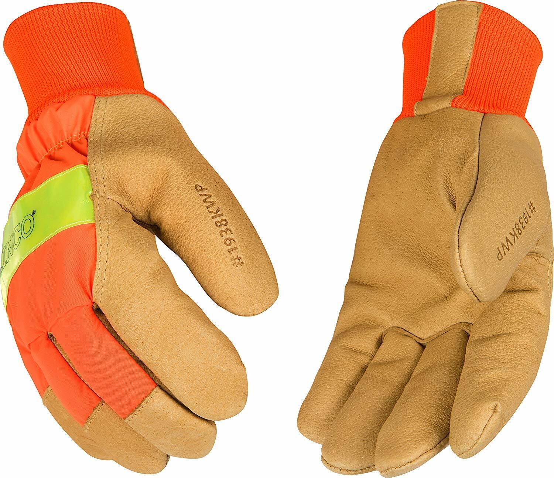 Kinco 1938KWP Mens Grain Pigskin Waterproof Insert Gloves Various Sizes Med-XL Business & Industrial