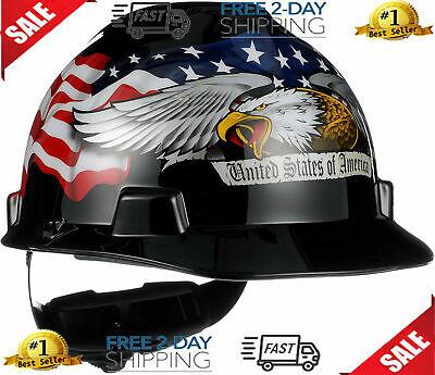 Protective Safety Construction Hard Hat Equipment Ratchet Suspension Work Helmet