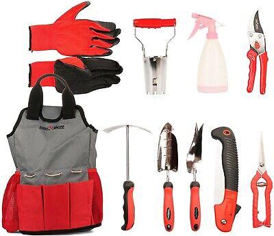 FLORA GUARD Garden Tools Set, 10 Pieces Gardening Tools Hand Tools Garden Gifts
