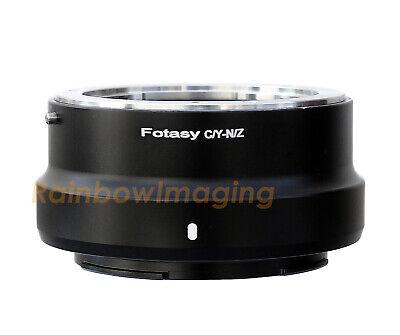 "Contax / Yashica C/Y Lens to Nikon Z Mount Z50 Z6 Z7 Camera Adapter ""US Seller"""