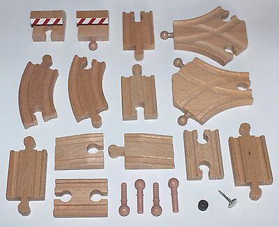 Holzeisenbahn Schienen Set 20 Adapterschienen passend z Brio Thomas Bino Heros