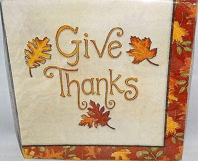 n Napkins 20Ct  2-Ply  GIVE THANKS  12 7/8