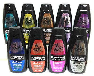 Ardell N' RAGE - Color Depositing Shampoo+Conditioner 8.5oz/250ml - Choose Any