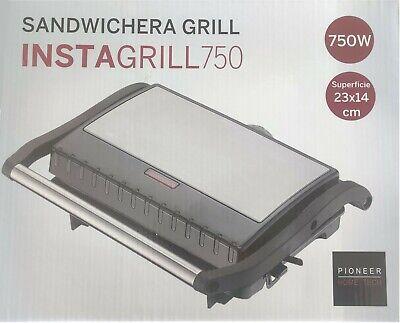 PARRILLA GRILL SANDWICHERA PIONEER INSTAGRILL 750 23X14 CM 750W