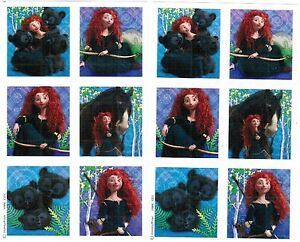 2-Sheets-Disney-BRAVE-Princess-Merida-Scrapbook-Stickers