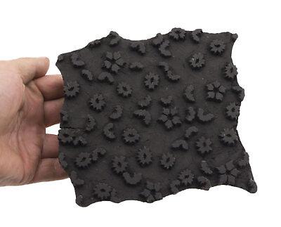 Bunta Stamped Wood Printing Textile Batik 16cm Antique India Cashmere 8924 CLO9