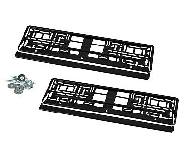 2 Kennzeichenhalter Nummernschildhalter Hochglanz Schwarz Mercedes W212 KHP_1