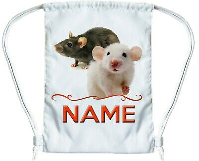 RAT BAG Personalised Gym Bag for Boys or Girls Drawstring Gymsac PE Book Bag
