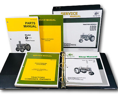 Service Parts Manual Set For John Deere D Styled Tractor Catalog Shop