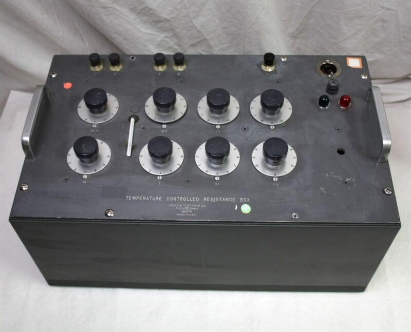 Vintage Leeds & Northrup Temperature Controlled Resistance Box 8 Decade Resistor