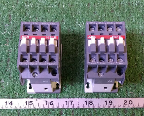 2 USED ABB N31E CONTACTOR RELAYS ***MAKE OFFER***