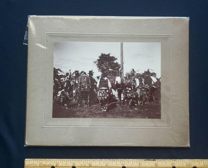 Sioux Indian Heritage, Pow Wow, Vintage Original Photograph, circ 1890