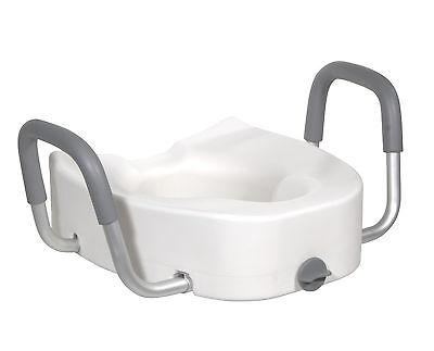 Drive Medical 12013 Premium Plastic Raised Toilet Seat Wi...