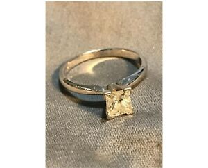 .70 Princess Cut white gold engagement ring