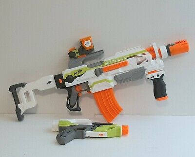 Nerf N-Strike Modulus ECS-10 Used Blaster - Full  Set with Stealth Ops Kit