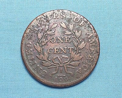 1803 Draped Bust Large Cent Small Date Small Fraction Some Original Mint Toning