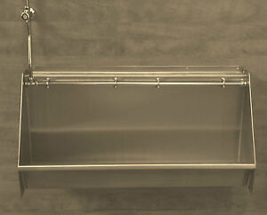 Stainless Steel Urinal (Mains supply) - 1800mm *  No need for cistern
