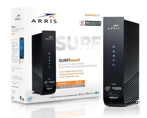 ARRIS Surfboard Cable Modem & Wi-fi Router (SBG6950AC2)™