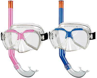 BECO Kinder Schnorchel-Set Tauchermaske Taucherbrille Ari 4+ pink / blau