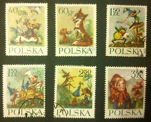 POLAND-STAMPS Fi1216-21 SC1105-10 Mi1364-69 - Fable-Dwarfs&Orphan Mary,1962,used - <span itemprop=availableAtOrFrom>Reda, Polska</span> - POLAND-STAMPS Fi1216-21 SC1105-10 Mi1364-69 - Fable-Dwarfs&Orphan Mary,1962,used - Reda, Polska