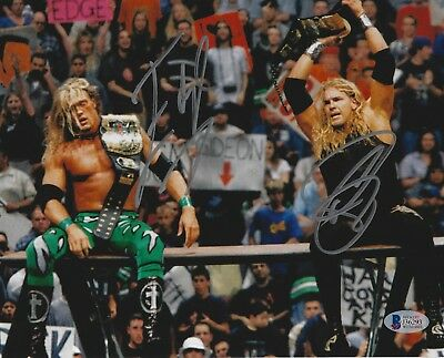 Edge 8x10 Foto (Edge Christian Unterzeichnet Wwe 8x10 Foto Bas COA pro Wrestling Bild)