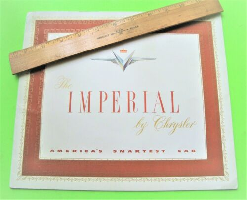 1951 IMPERIAL by CHRYSLER DLX CATALOG Brochure 20-pgs CONVERTIBLE Newport XLNT++