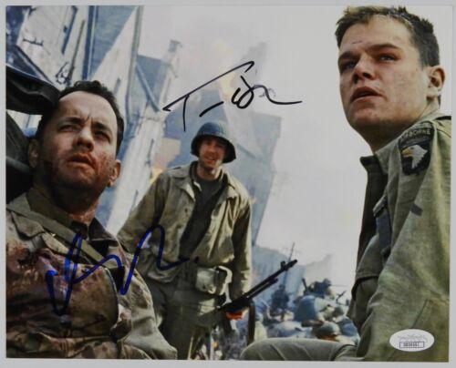 Tom Hanks Matt Damon Saving Private Ryan JSA Autograph Signed Photo 8 x 10