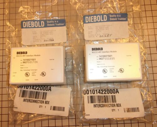 Lot of 2 - Diebold Machine DB RS232-485 Interface Module,Junction Box,1410021501