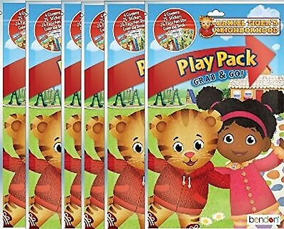 Daniel Tigers Neighborhood Play and Go Super Set Coloring Book with Stickers ...