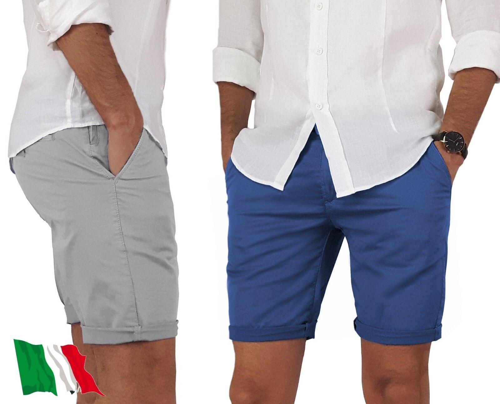 Bermuda uomo pantaloni corti pantaloncini tasche america MADE IN ITALY 44 54
