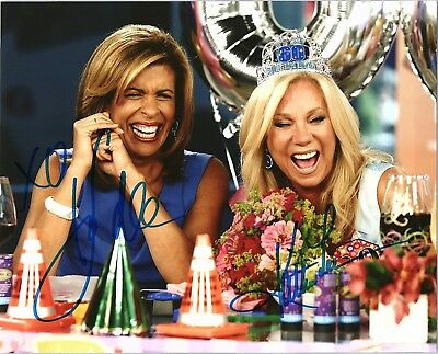 Kathie Lee Gifford   Hoda Kotb Dual Signed Autographed Today Show 8X10 Photo D