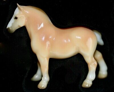 Breyer Stablemate Tan Draft Horse from QVC Silver Cup Series 2nd Set from 2002
